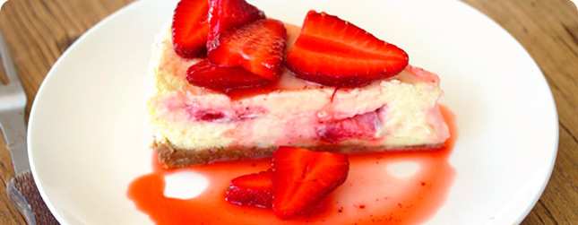 Steamed Strawberry Cheesecake