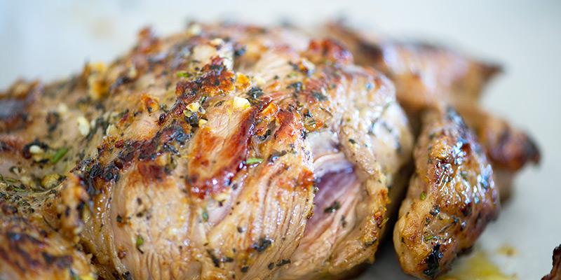Marinated Roast Lamb Shoulder