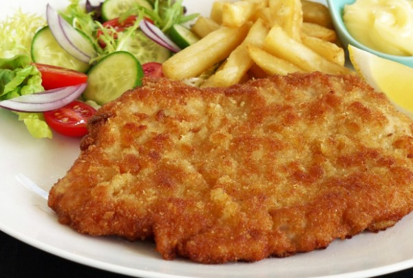 Pork Schnitzel with Chips