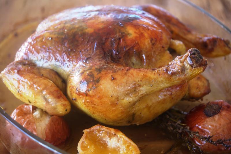 Roast Chicken with Lemon & Rosemary